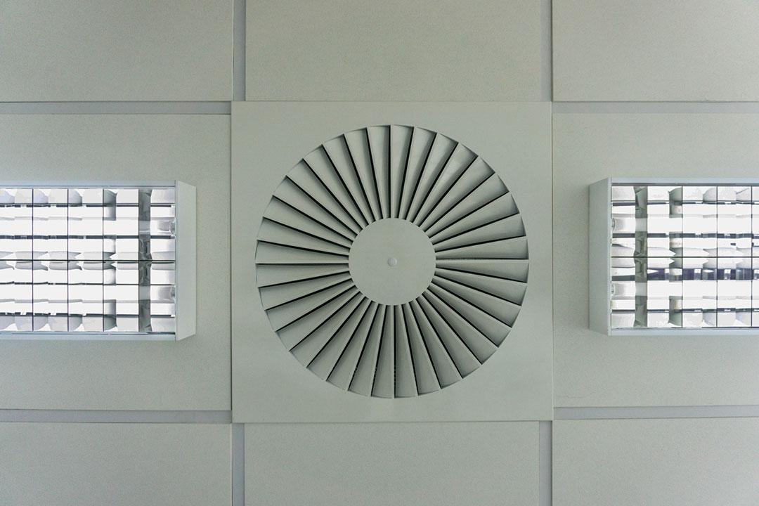 Detal instalacji wentylacyjnej lub chłodniczej